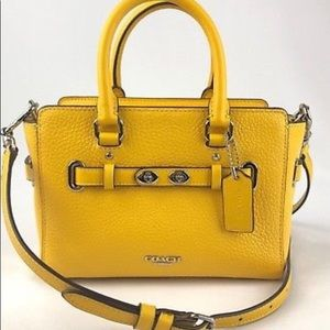 COACH Sunshine/Canary Bubble Leather Mini Blake